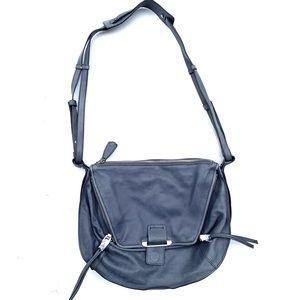 KOOBA Light Blue Leather Cross Body Messenger Bag